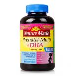 香港代购 美国Nature Made孕妇多种综合维生素含DHA 含叶酸165粒 孕妇专用